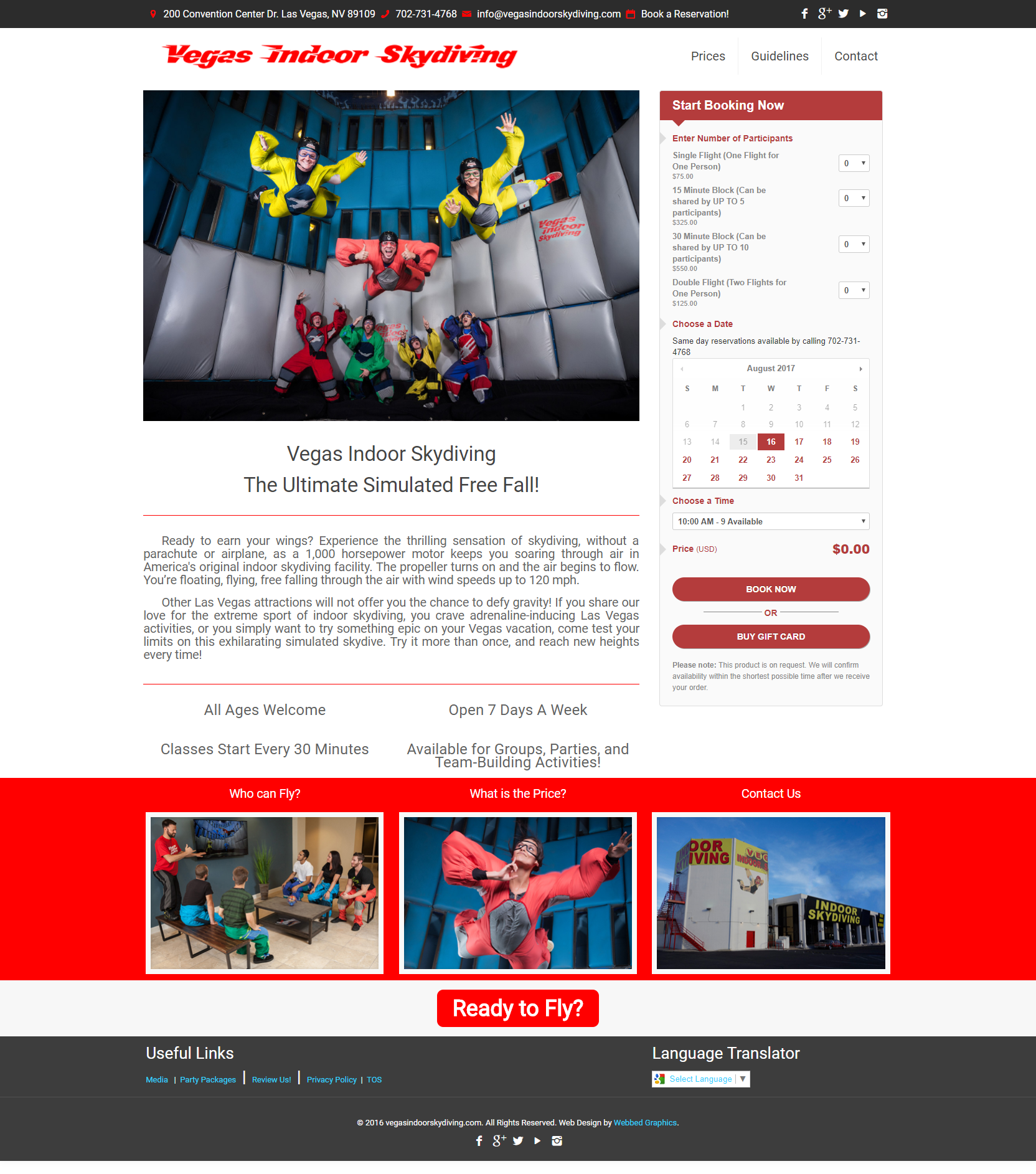 web copy vegas indoor skydiving